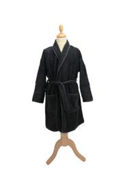 Kinderbadjas badstof A&R kleur zwart maat 116  t/m 164