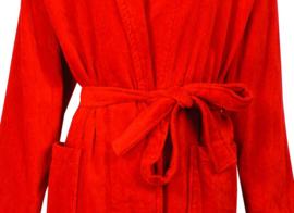 Badjas Irresistible katoen velours rood S t/m XL