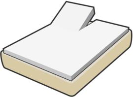 Damai topcover voor topper of dun matras van 10 tot 15 cm,  organic percal met enkele split