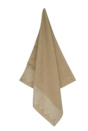 Keukendoek (handdoek) Elias Lace beige katoen/linnen zeer luxe kwaliteit