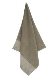 Keukendoek (handdoek) Elias Lace grijs katoen/linnen zeer luxe kwaliteit