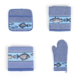 Ovenwanten Bunzlau Castle Fish royal blue