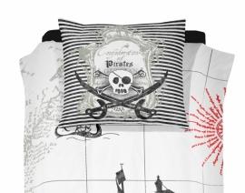 Dekbedovertrek Damai: pirates kleur black 1 persoons