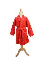 Kinderbadjas badstof A&R kleur rood maat 116 t/m 152