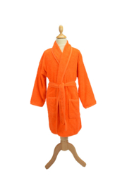 Kinderbadjas badstof A&R kleur oranje maat 116  t/m 164