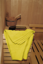 A&R saunalaken 100x210 cm geel badstof