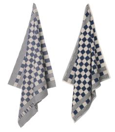 Keukendoek (handdoek) Elias pompdoek blauwe ruit