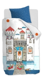 Dekbedovertrek Beddinghouse kids Knight Castle blue 1 persoons