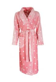 Dames badjas Irrisistible superzachte flannel fleece kleur roze