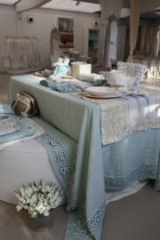 Arte Pura - design tafelkleed met PP kantrand, 100% linnen, meerdere kleuren en verschillende maten leverbaar