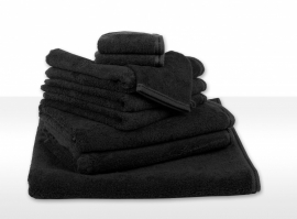 Handdoek A&R 50x100 cm zwart set 3 stuks