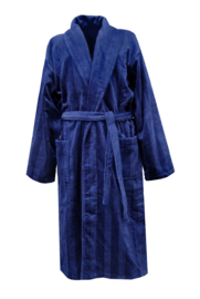 Heren badjas Elias Deep 100% katoen velours maat S/M en L/XL kleur navy