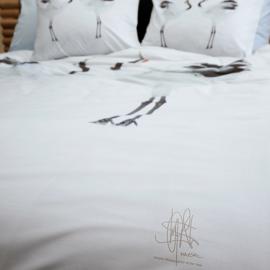 Dekbedovertrek Damai crane wit katoen