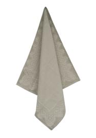 Theedoek Elias Lace grijs katoen/linnen zeer luxe kwaliteit