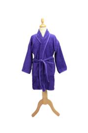 Kinderbadjas badstof A&R kleur paars maat 116  t/m 164