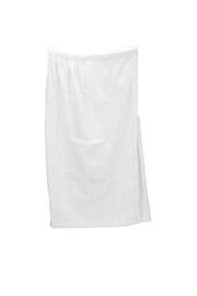A&R dames saunakilt badstof verstelbaar met klitteband kleur white