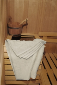 A&R saunalaken 100x210 cm ivory badstof