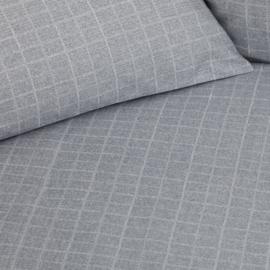 Damai dekbedovertrek Control katoen kleur light grey