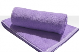 A&R strandlaken badstof 100x210 cm light purple badstof