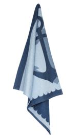 Theedoek Elias  Anchor blauw