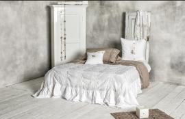 Arte Pura sprei Sorgente linnen met borduurwerk 270x270 cm diverse kleuren leverbaar