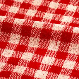 Keukendoek (handdoek) Bunzlau Castle rood ruit