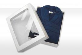 Badstof badjas A&R met sjaalkraag 100% katoen french navy XXS t/m XXXL