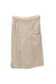 A&R dames saunakilt badstof verstelbaar met klitteband kleur sand