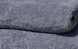 Badstof badjas met capuchon A&R 100% katoen antracietgrijs XXS t/m XXXL