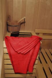 saunalaken A&R 100x210 cm rood badstof