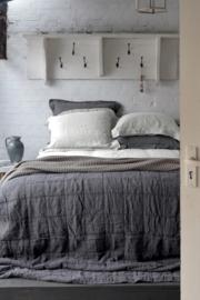 House in Style dekbedovertrek ST Remy Grey blue (antraciet) stonewashed linnen