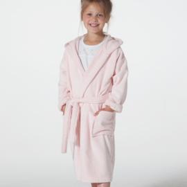 Kinderbadjas Seahorse pure velours badstof  kleur pearl pink 122  t/m 164