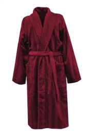 Heren badjas Elias Deep 100% katoen velours maat S/M en L/XL kleur bordeaux