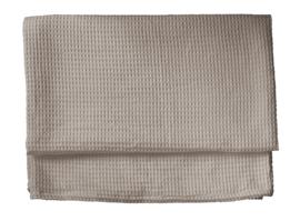Heckett & Lane wafel plaid Cuban kleur taupe 180x260 cm of 240x260 cm