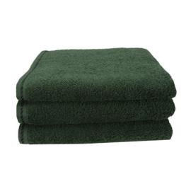 Handdoek A&R 50x100 cm donkergroen set 3 stuks