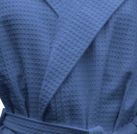 Wafelbadjas A&R met capuchon 100% katoen true blue XXS t/m XXXXL