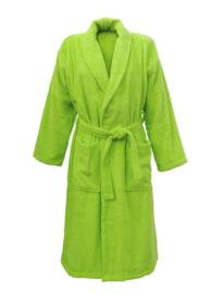 Badstof badjas A&R met sjaalkraag 100% katoen limegroen XXS t/m XXXL