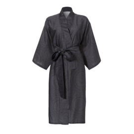 Seahorse Maiko kimono anthracit katoen satijn S t/m XXL