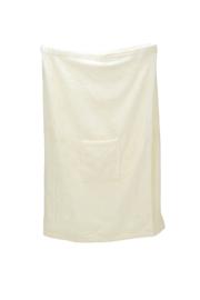 A&R dames saunakilt badstof verstelbaar met klitteband kleur ivory