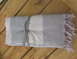 Vossen luxe hamamdoek  Chakra 100x180 cm kleur twilight taupe/grijs