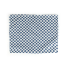 Bunzlau Castle placemat blauw checkered 35x45 cm