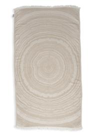 Kayori Nobu Beige Hamamdoek Bamboo 100x180