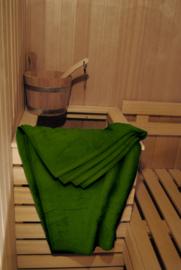 A&R saunalaken 100x210 cm dark green badstof