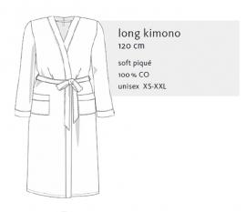 Wafelbadjas  Taubert Thalasso model kimono (long)  antraciet  XS t/m 5XL