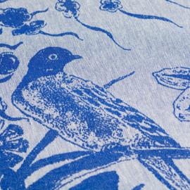 Theedoek Bunzlau Castle Delfts Blue Bird royal