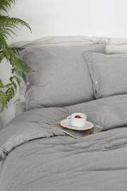 House in Style Luna dekbedovertrek jersey grey melange maat 260x220 Lits-jum.