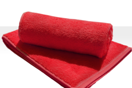 A&R strandlaken badstof 100x210 cm rood badstof
