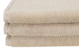 Handdoek A&R 50x100 cm sand set 3 stuks