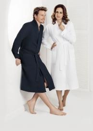 Wafelbadjas Taubert Thalasso model kimono (long) wit zeer soepelvallend XS t/m XXL