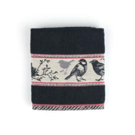 Keukendoek (handdoek) Bunzlau Castle zwart vogel